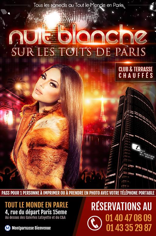Soirée clubbing samedi soir Tout le Monde en Parle