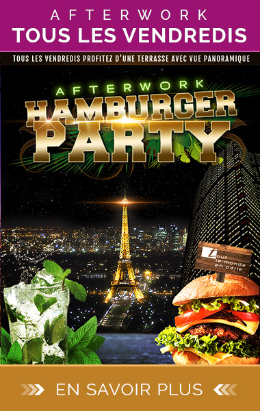 Afterwork vendredi hamburger Party Rooftop