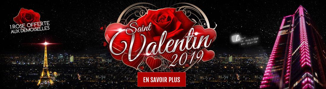 Réserver sa soirée pour la Saint Valentin 2019