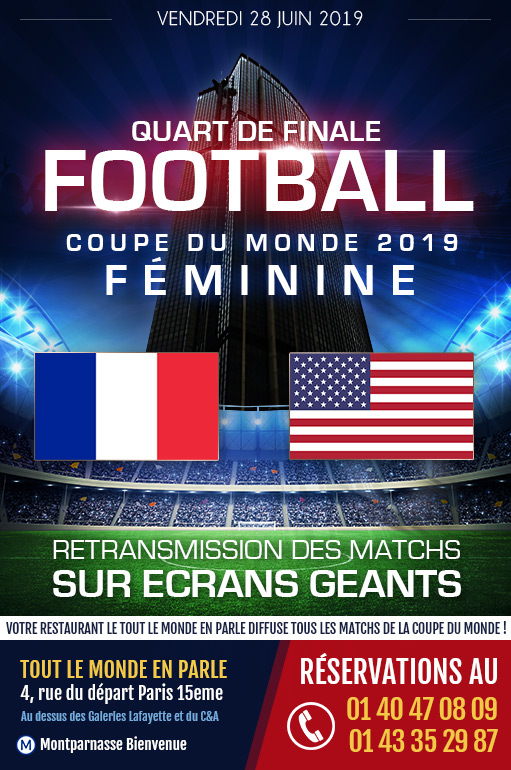 Afterwork Quart de finale Coupe du Monde de Football Feminin