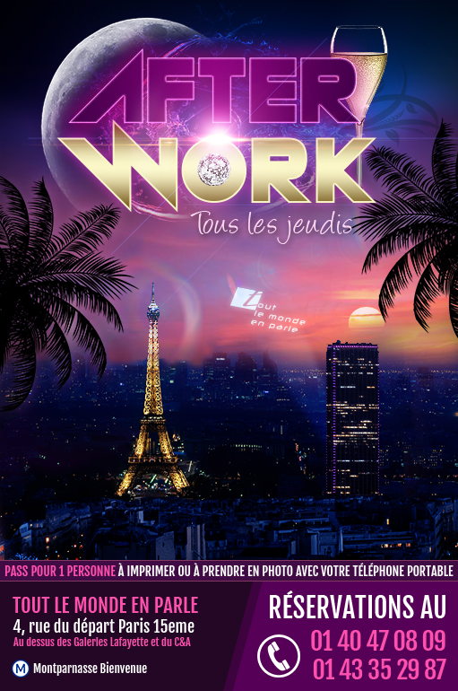 Afterwork Rooftop Jeudi soir Tout le Monde en Parle