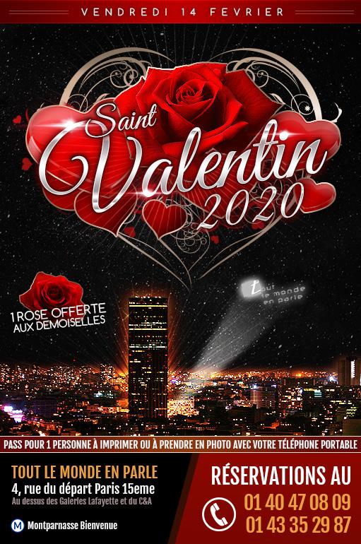 Fêter la Saint Valentin 2020 à Paris Montparnasse : dîner romantique sur les toits de Paris